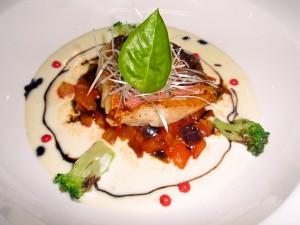 赤魚のポワレ_ブールブランソース_ラタトゥユ添え (2)